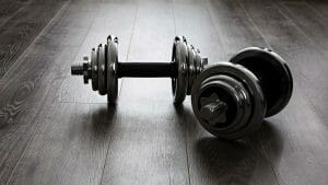 Dumbbells losing weight