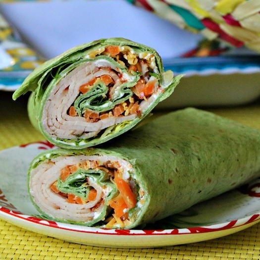 healthy turkey wrap