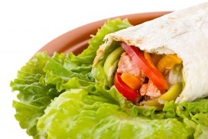 healthy high protein salmon wrap