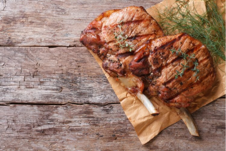 Pork chop high protein