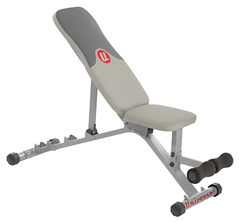 side view of universal weight bench