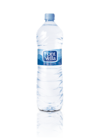 water intake bottle of water