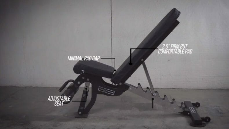 adjustable angles of weight bench