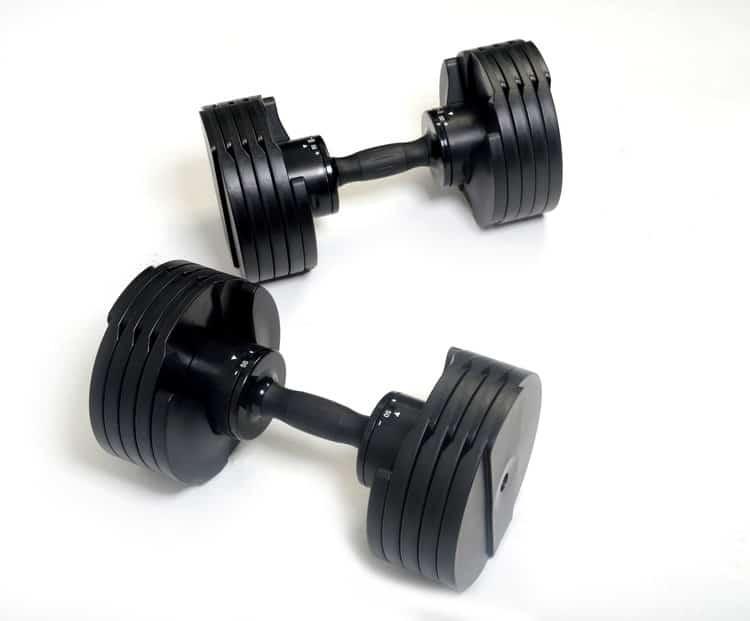 2 black core fitness dumbbells