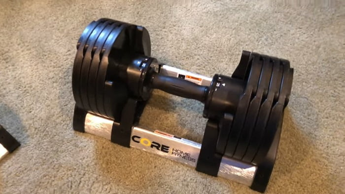 Core Home Fitness Adjustable Dumbbell Set Review & Comparison with Bowflex 552's