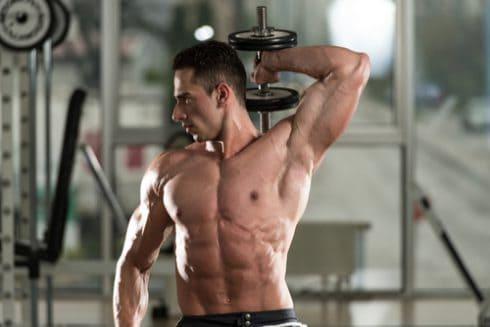 bodybuilder tricep movement