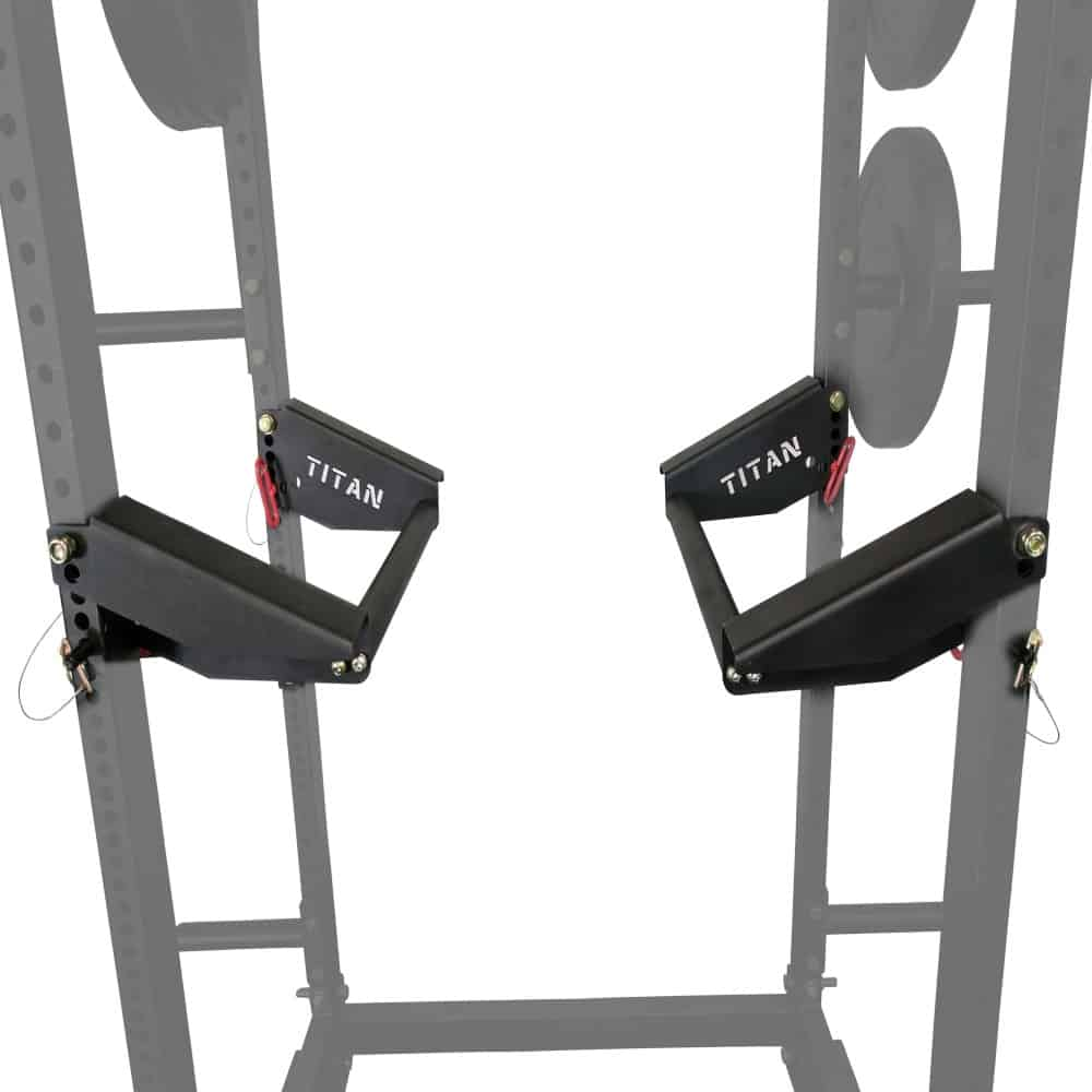 24 inch parallel bars fitted onto power rack