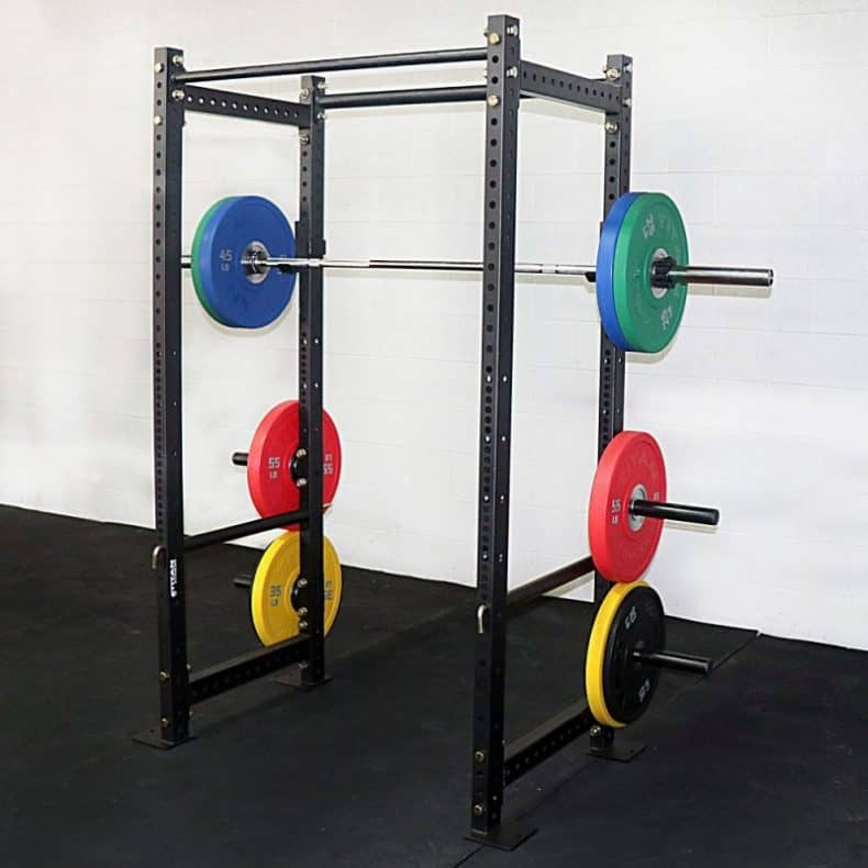 loaded power rack in gym t3 short