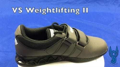 Top view of VS Athletic lifting shoe