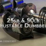 Xmark fitness adjustable dumbbell pair in cradles
