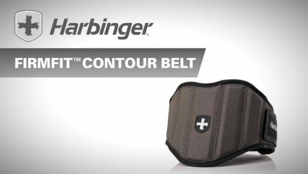close up of harbinger weightlifting belt firm fit