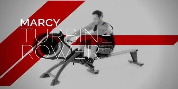 man rowing on marcy turbine rower