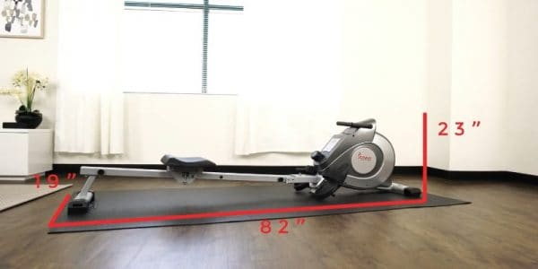 measurements of sunny health 5155 rowing machine