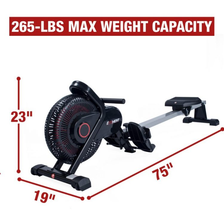 dimention of rw036 air rowing machine