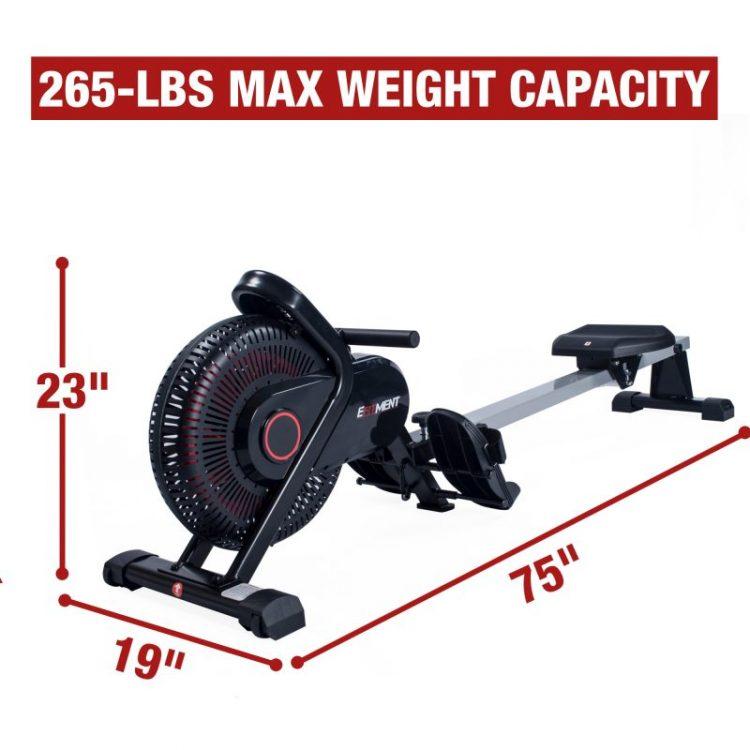 efitment rowing machine measurements