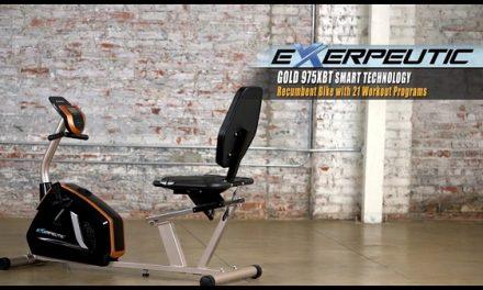 Exerpeutic GOLD 975XBT Recumbent Bike