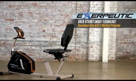 Exerpeutic GOLD 975XBT Recumbent Bike