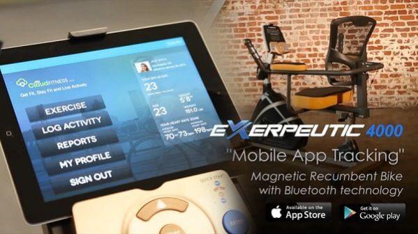 Exerpeutic 4000 Magnetic Recumbent Bike
