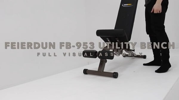 feierdun adjustable weight bench
