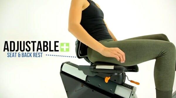 women showing 3g cardio elites adjustable seat