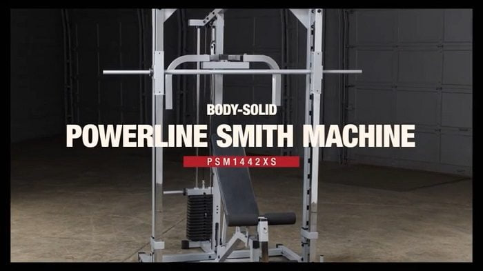 full View of the Body Solid Powerline smith machine