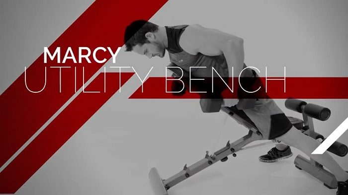 marcy advertisement of their utility weight bench
