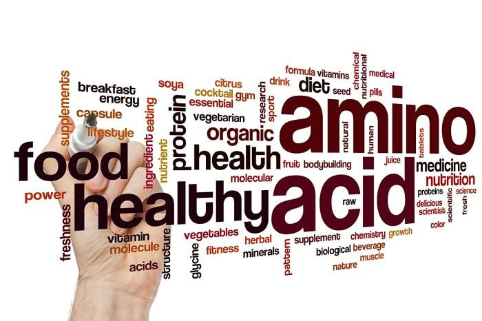 list of amino acids benefits on a white board