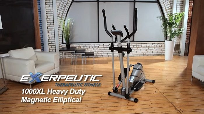 full view of the Exerpeutic 1000XL elliptical machine