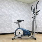 body champ duel elliptical presented in a front room of house