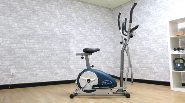 full view body champ cardio dual trainer in sitting room