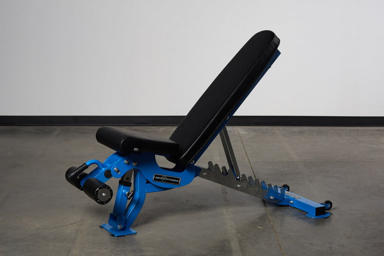 rep fitness weight bench blue in home gym