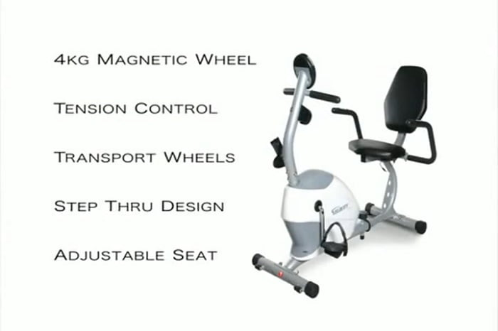 list of features for velocity recumbent exercise bike