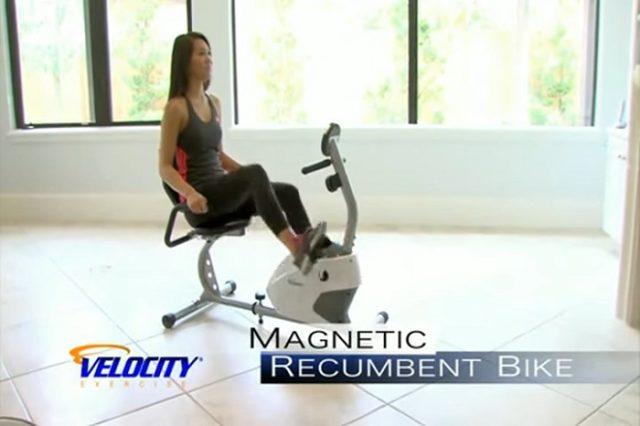 woman exercising on velocity exercise bike