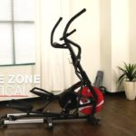sunny health and fitness sf-e3865 elliptical trainer in home front room