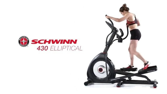 woman exercising on Schwinn 430 elliptical machine