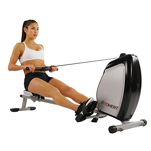 woman rowing on efit rowing machine