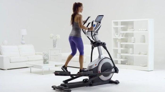 woman exercising on ProForm Endurance 520E elliptical