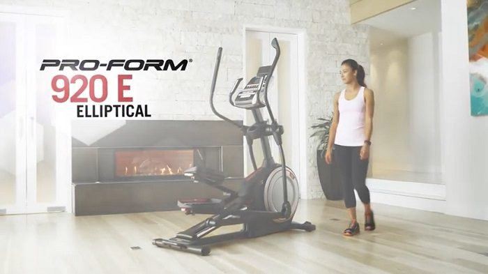ProForm Endurance 920 E Elliptical in front room of house