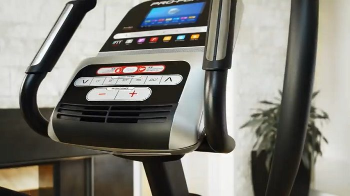 Demonstration of ProForm Endurance 920 E Elliptical monitor