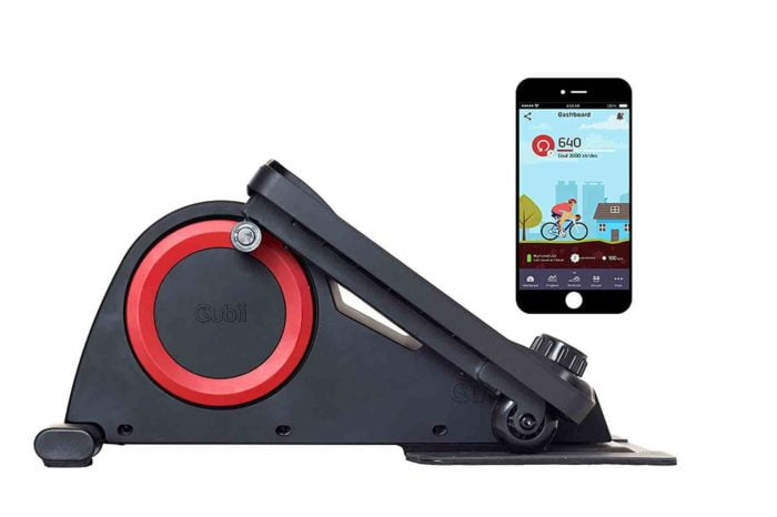 cubii pro mini elliptical showing bluetooth feature