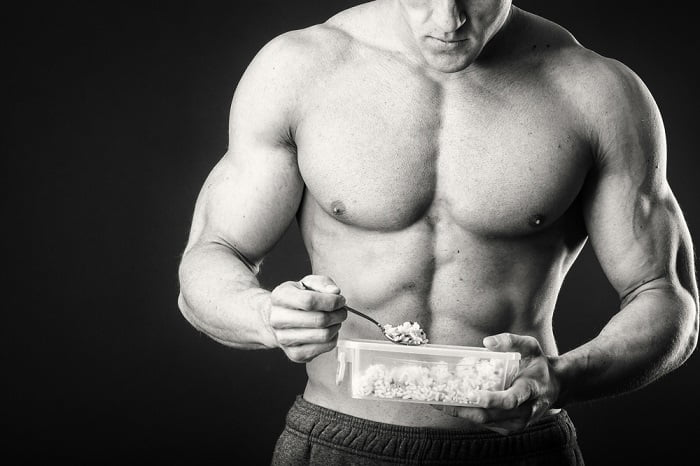 fit man eating food the best supplement for muscle growth