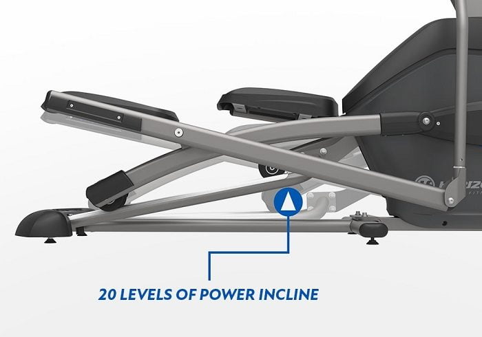 power incline feature of Horizon Fitness 7.0 elliptical trainer
