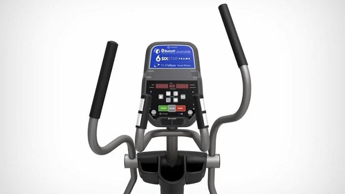 Horizon Fitness EX-59 elliptical monitor on white background