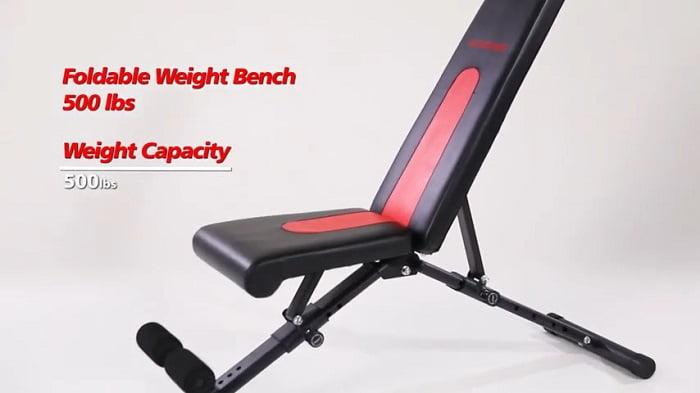 Vanswe folding 500lb capacity weight bench
