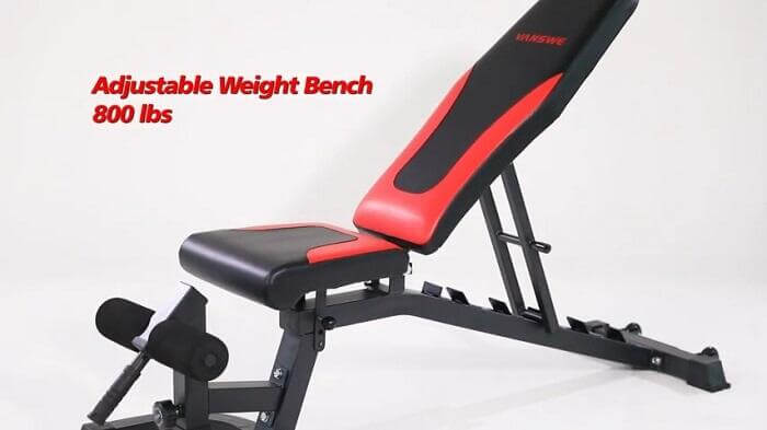 800lb capacity Vanswe weight bench