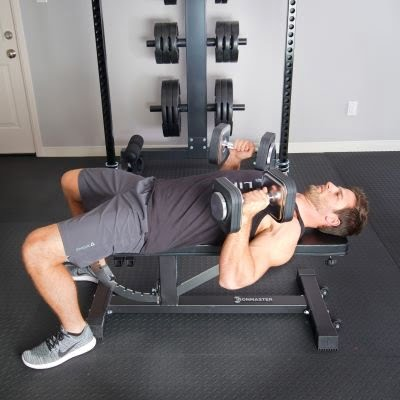 mad dumbbell pressing on ironmaster pro