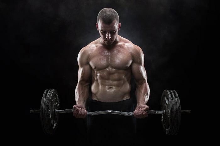 man holding a weight