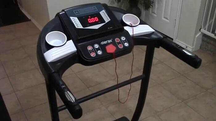 monitor of merax folding treadmill