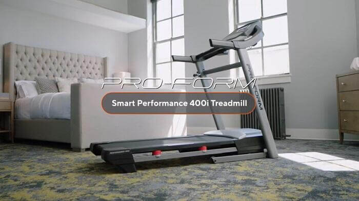 proform performance 400i treadmill in bedroom