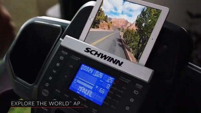demonstration of schwinns 810 monitor and running app